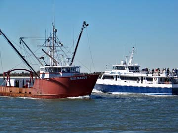 The Doris Mae IV and commercial fishing boat Miss Maddy