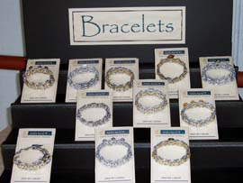 """Bracelets with a Conscience"", made from pull tabs, were crafted by  Ann Skydell Harmon of ""Ann-Made, LLC""."