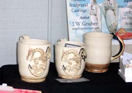 """The Jersey Devil Handmade Mug"" was designed by artist J. W. Gruber"