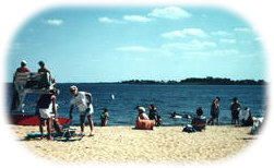 The bay beach at Berkeley Island County Park