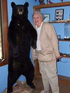 Piney Senior poses with a black bear!