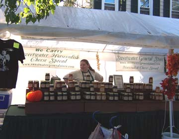 Sweetwater General Store had a large display at the Chatsworth Cranberry Festival