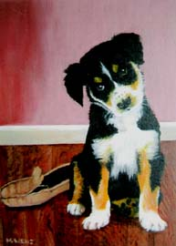 """Mutt"", by Marilyn Wenz. Available for purchase."